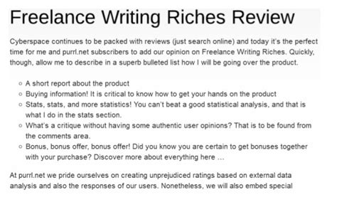 freelance writing riches review scam or not