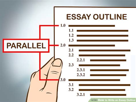How To Write An Essay With Pictures Wikihow by 3 Easy Ways To Write An Essay Outline Wikihow