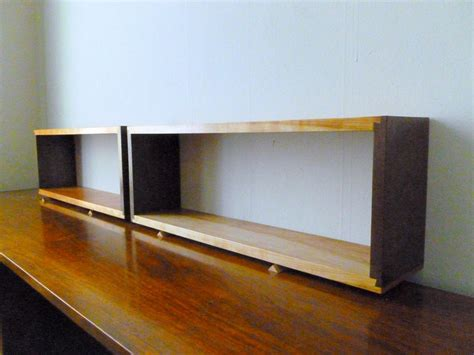 On Shelf In A Box by Simple Walnut Cherry Wall Shelf Box Open Back