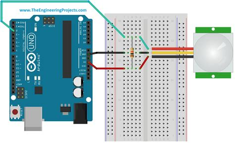arduino code motion sensor interfacing pir sensor with arduino the engineering projects