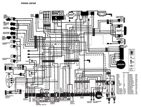 honda motorcycle cb750f wiring diagram electronic circuit