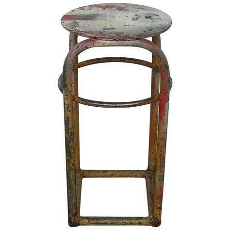 vintage metal industrial shop stool 1960s for sale at 1stdibs