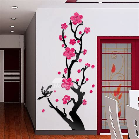 cheap wall stickers for rooms flower wall decals acrylic personalized for bedroom home decor cheap