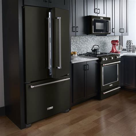 black appliance kitchen kitchenaid expands black stainless collection of major