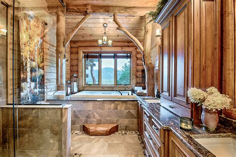 Log Cabin With Indoor Tub by A Mountain Log Home In New Hshire