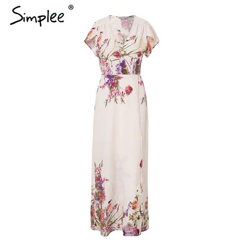 aliexpress buy simplee v neck print wrap summer