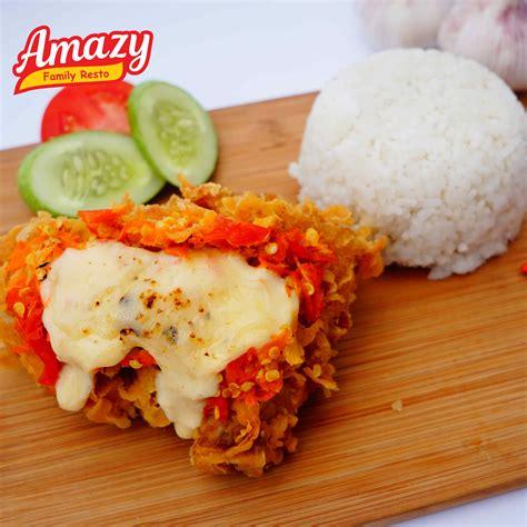 amazy ayam geprek mozarella magfood amazy