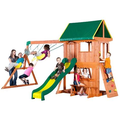 swing academy backyard discovery somerset wooden swing set academy
