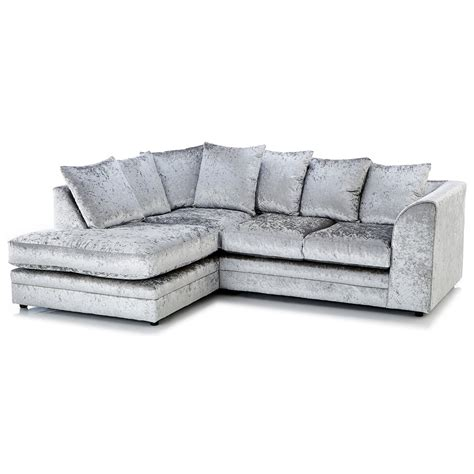 sofa samt grau crushed velvet furniture sofas beds chairs cushions