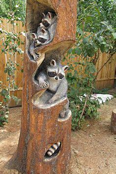 Chignon Du Bois Dans Les Maisons 4253 by Wood Carving Of A Raccoon In A Log Sculpture Sur Bois