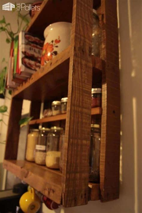 etagere de cuisine en palette kitchen pallet shelf