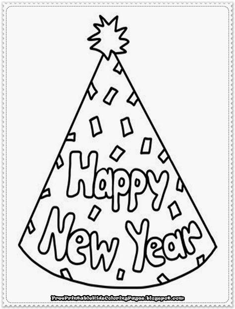 new year printable coloring pages free printable kids
