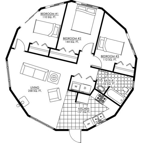 Post Circle Floor Plans by Octagon Tiny House Plans With Loft Free Studio