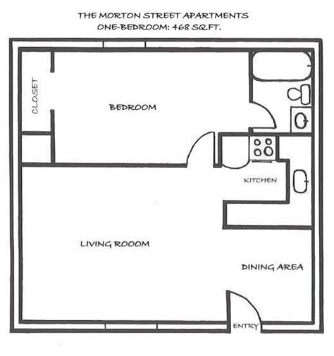 Best 25 One Bedroom House Plans Ideas On Pinterest 1 House Floor Plans 1 Bedroom