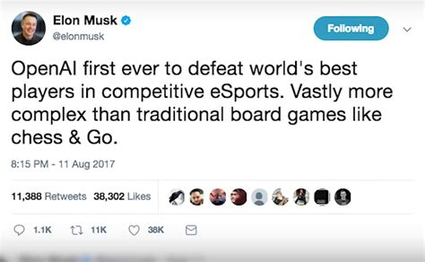 elon musk on ai elon musk ruined esports with an a i bot but it has