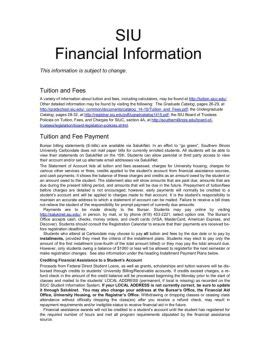 Siu Financial Aid Office by Interactive Financial Aid Magazines Financial Aid