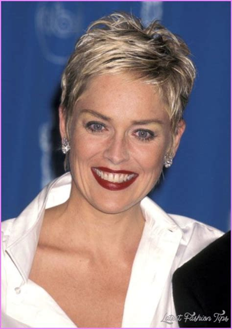 sharon stone short hairstyles latestfashiontips com