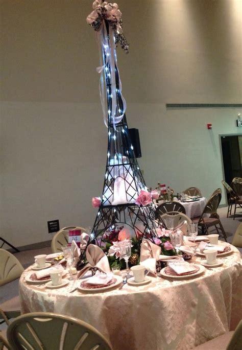 eiffel tower centerpiece lights amazing centerpiece inspired eiffel