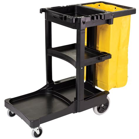 Rubbermaid 3 Shelf Cart by Rubbermaid 6173 88 3 Shelf Janitor Cart With Vinyl