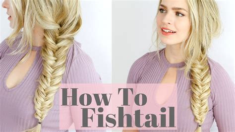 fishtail braid beginner friendly hair tutorial youtube