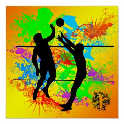 design volleyball poster volleyball poster zazzle