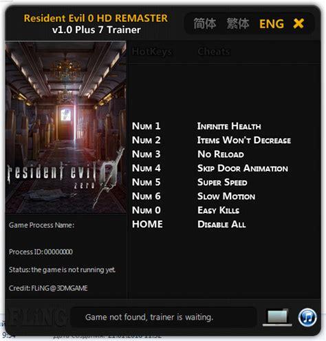 resident evil 5 cheats pc trainer download resident evil 0 hd remaster trainer 7 v1 0 fling