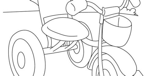 tricycle coloring pages preschool kids tricycle coloring page download free kids tricycle