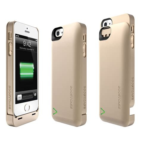 boostcase hybrid power for iphone 5 5s bch2200ip5 gld b h
