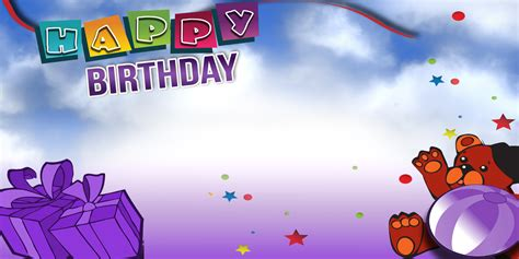 happy birthday banner design hd happy birthday banner purple bear vinyl banners