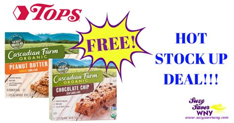 tops grocery coupons printable tops markets free organic cascadian farms granola bars