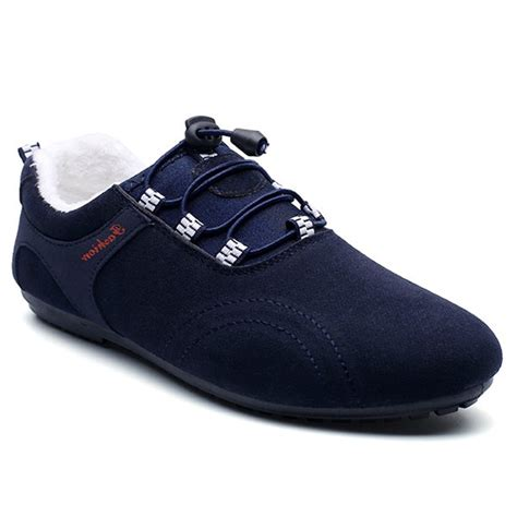 sammydress shoes elastic band suede flocking casual shoes in blue