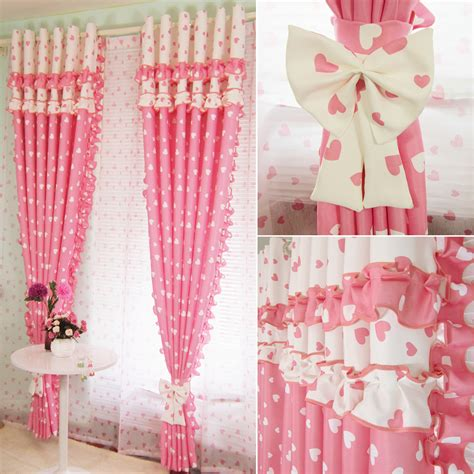 Childrens Curtains Girls Aliexpress Com Buy Pink Blackout Splice Flounce Curtains