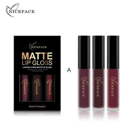 hair and makeup kit 3pcs set makeup set matte lipgloss kit long lasting choose