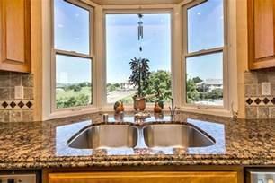Kitchen Bay Window Over Sink Kitchen Kitchen Bay Window Sink With Two Dishwashers