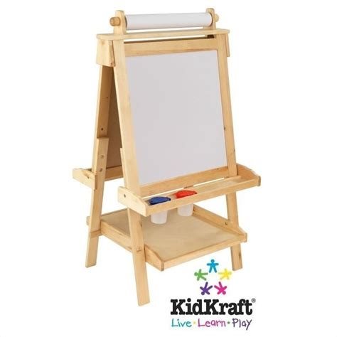 easels for kids kidkraft deluxe wood easel with paper roll 62005