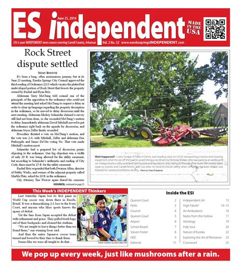 Hemophilia And Back By Ureka Issuu by Es Independent Vol 2 No 52 By Eureka Springs