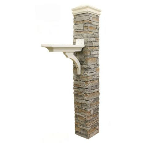 5 Sale Tastic Posts To Blogstalk by Eye Level Gray Stacked Brace And Curved Cap Mailbox