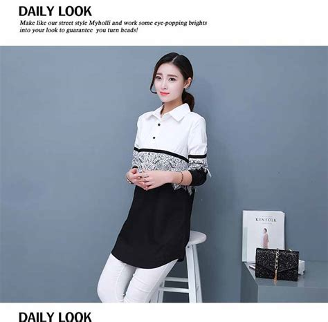 Shjt217080861342 Kemeja Hitam Baju Import baju atasan putih hitam renda terbaru model terbaru jual murah import kerja