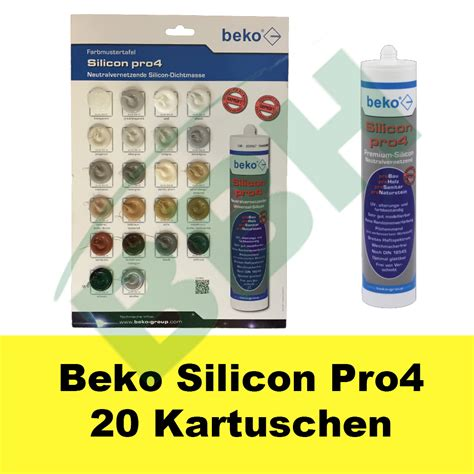 Silicone Silikon beko silicon pro4 silikon 20 x 310 ml holz bau sanit 228 r