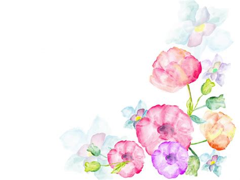 Watercolor Flowers Greetings Ppt Backgrounds Flowers Free Flower Powerpoint Template Wallpapers 1280 X 1024