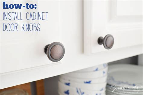 how to install cabinet door knobs pomegranate house