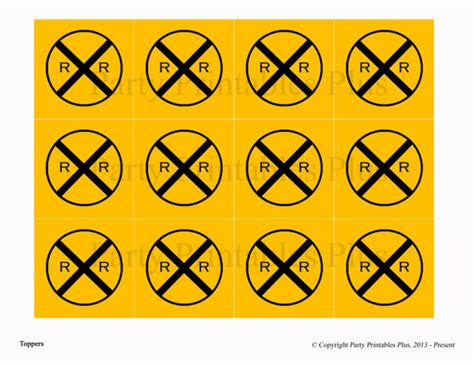 printable railroad signs items similar to train railroad crossing sign toppers or