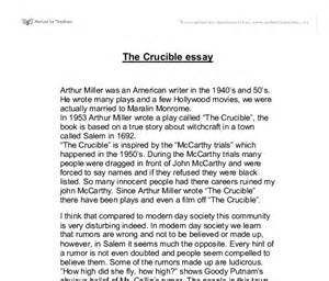 The Crucible Theme Essay by Mob Mentality In The Crucible Essay Reputation Essay For You