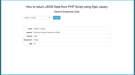 tutorial php ajax jquery how to return json data from php script using ajax jquery