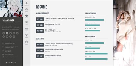themeforest resume profiler vcard resume wordpress theme by templaza