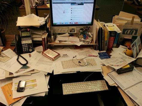 Cluttered Desk by Desk Giveaway Samsill World Leaders In Binders