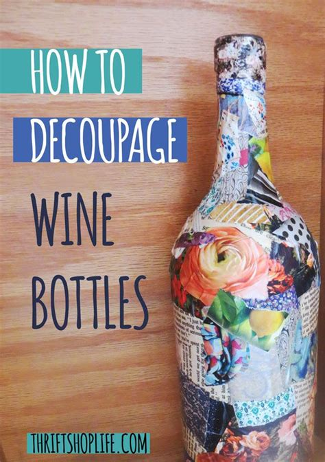 how to decoupage on glass bottles 17 best ideas about decoupage glass on wine