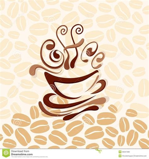 wallpaper coffee vector coffee background royalty free stock images image 35347399
