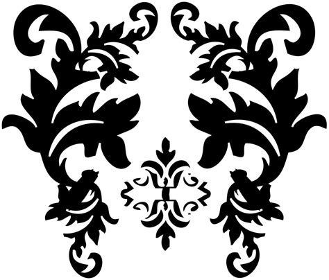 white pattern clipart simple damask patterns png