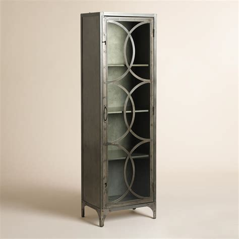 Steel And Glass Cabinet by Metal And Glass Half Circle Eriksen Curio Cabinet World